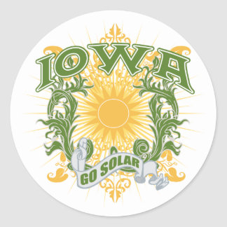 Solar Iowa Classic Round Sticker