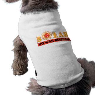 Solar - No War Required Sleeveless Dog Shirt