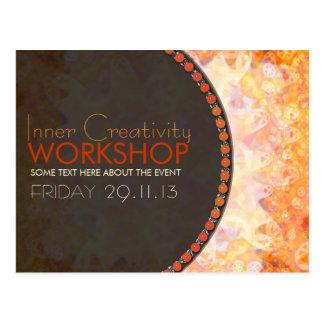 Solar Orange Energy Workshop Business Flyer Postcard