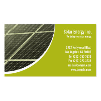Solar Panel Green Energy Pack Of Standard Business Cards