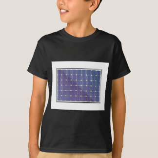 Solar panel on white T-Shirt