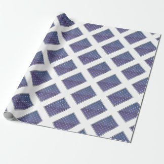 Solar panel on white wrapping paper