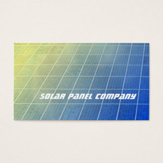 Solar panels blue and yellow shading business card