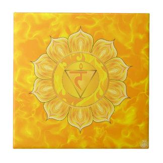 Solar Plexus Chakra Ceramic Tile