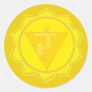 Solar Plexus Chakra Classic Round Sticker, Glossy Round Sticker