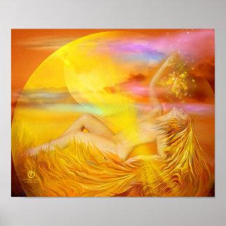 Solar Plexus Chakra Goddess Fine Art Poster/Print Poster