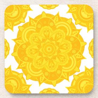 Solar Plexus Chakra Mandala Drink Coaster