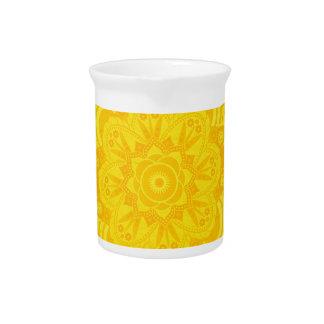 Solar Plexus Chakra Mandala Drink Pitcher