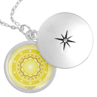 Solar Plexus Chakra Mandala Locket Necklace