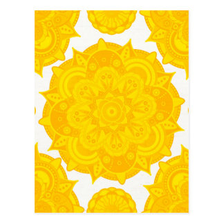 Solar Plexus Chakra Mandala Postcard