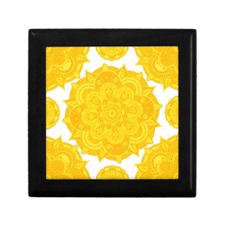 Solar Plexus Chakra Mandala Small Square Gift Box