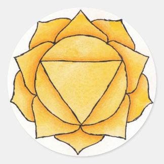 Solar Plexus Chakra Round Sticker