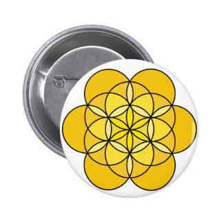 Solar Plexus Flower of Life Pin