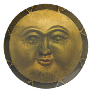 Solar Plexus Plate -- Yellow Sun