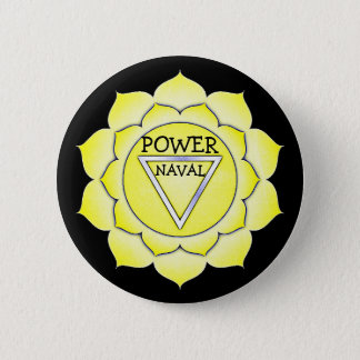 Solar Plexus Yellow Power Chi Chakra Button