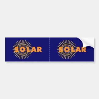 Solar Power Sun Car Bumper Sticker