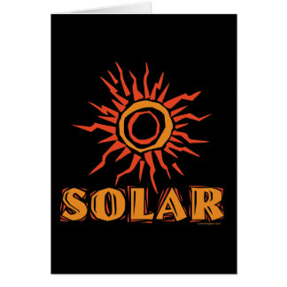 Solar Power Sun Greeting Card