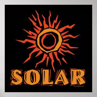 Solar Power Sun Poster