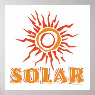 Solar Power Sun Print