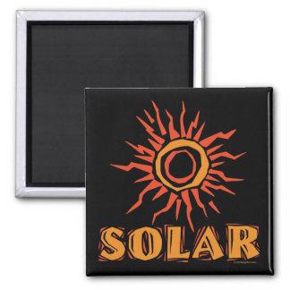 Solar Power Sun Square Magnet
