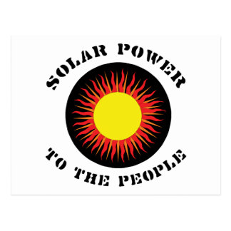 Solar Power To The People Postcard