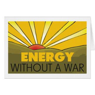 Solar Power, War Greeting Card