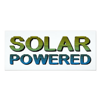 "solar powered 4"" x 9.25"" invitation card"