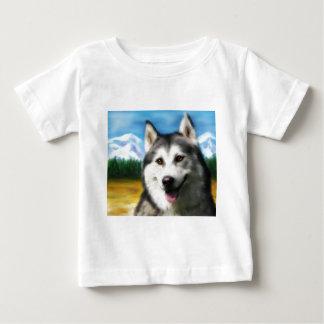 Solar Siberian Husky Baby T-Shirt