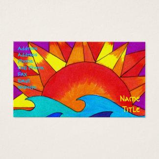 Solar Summer Business Card Template