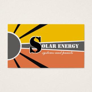 Solar/sun Energy/Power alternative sources Business Card