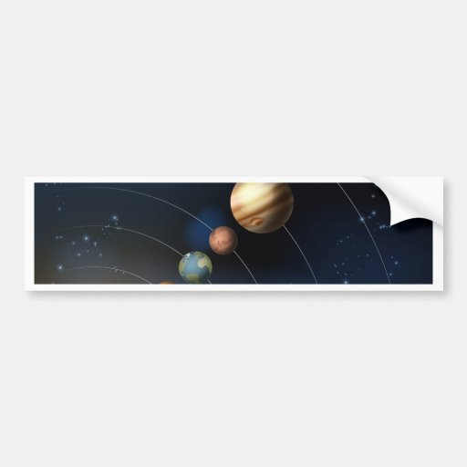 Solar system from space bumper stickers