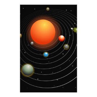 Solar System Graphic Stationery