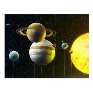 Solar System Mobile Postcard