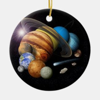 Solar System Montage Ceramic Ornament