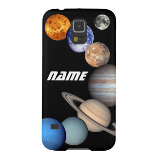 Solar System Montage JPL Photos - Customize Name Galaxy S5 Case