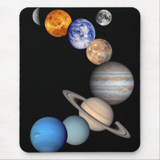 Solar System Montage JPL Planet Photos Mouse Pad