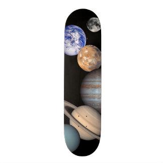 Solar System Montage Planetary Images 21.6 Cm Skateboard Deck