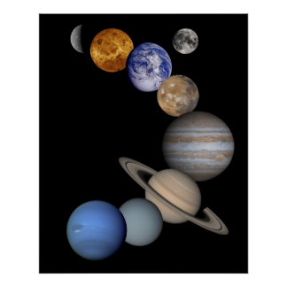 Solar System Montage Poster