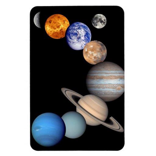 Solar System Montage Rectangle Magnet