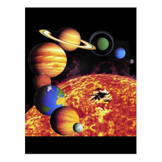 Solar System Planets Postcard