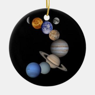 solar system planets universe ceramic ornament