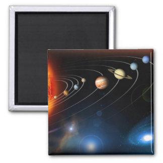 """Solar System"" Square Magnet"