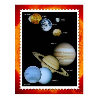 Solar System Stamp Design Postcard