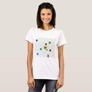 Solar System with Flower Sun Tshirt