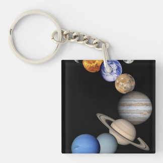 Solar Sytem Montage Key Ring
