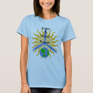 Solar, &, Wind, Power_Women's Shirt