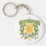 Solar Wyoming Keychain