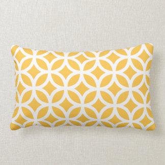 Solar Yellow Geometric Lumbar Pillow