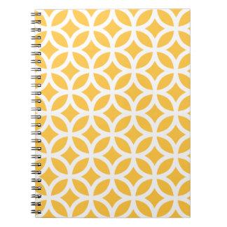 Solar Yellow Geometric Notepad Notebook