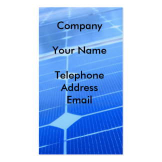solarpanels20_c1, CompanyYour NameTelephoneAddr... Pack Of Standard Business Cards